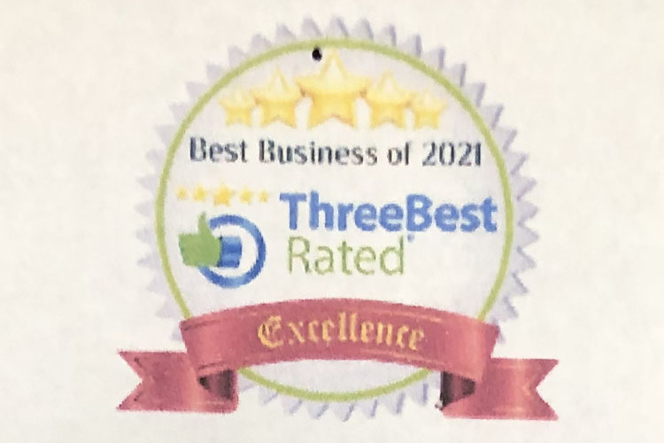 Best Business of 2021 award